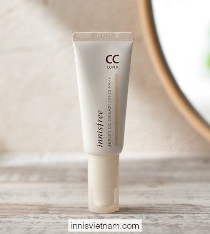 Kem Nền Serum CC Cream cover SPF35/PA++ Innisfree