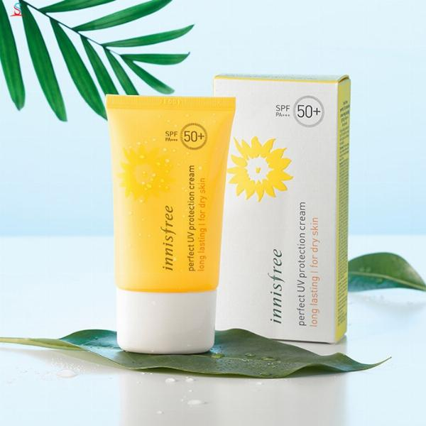 Kem Chống Nắng Perfect Uv Protection Cream Long Lasting SPF50+/ PA+++ Innisfree (50ml) – For Dry Skin