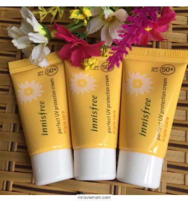 Kem Chống Nắng Perfect Uv Protection Cream Triple Care SPF50+/PA+++ Innisfree (PA+++/50ml)
